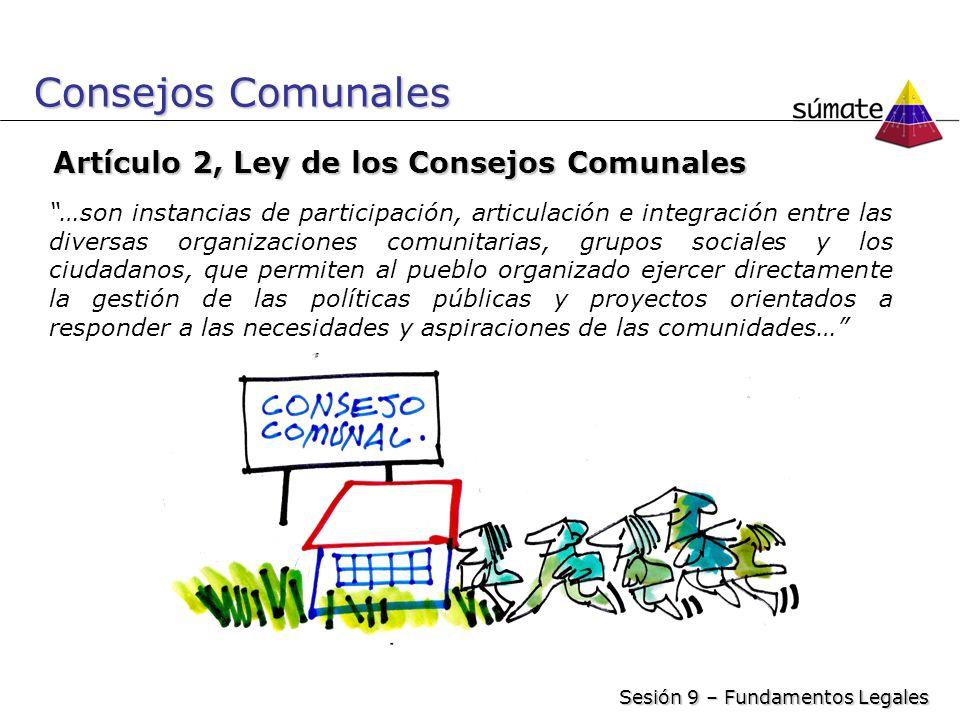 Consejos Comunales Artículo 2, Ley de los Consejos Comunales