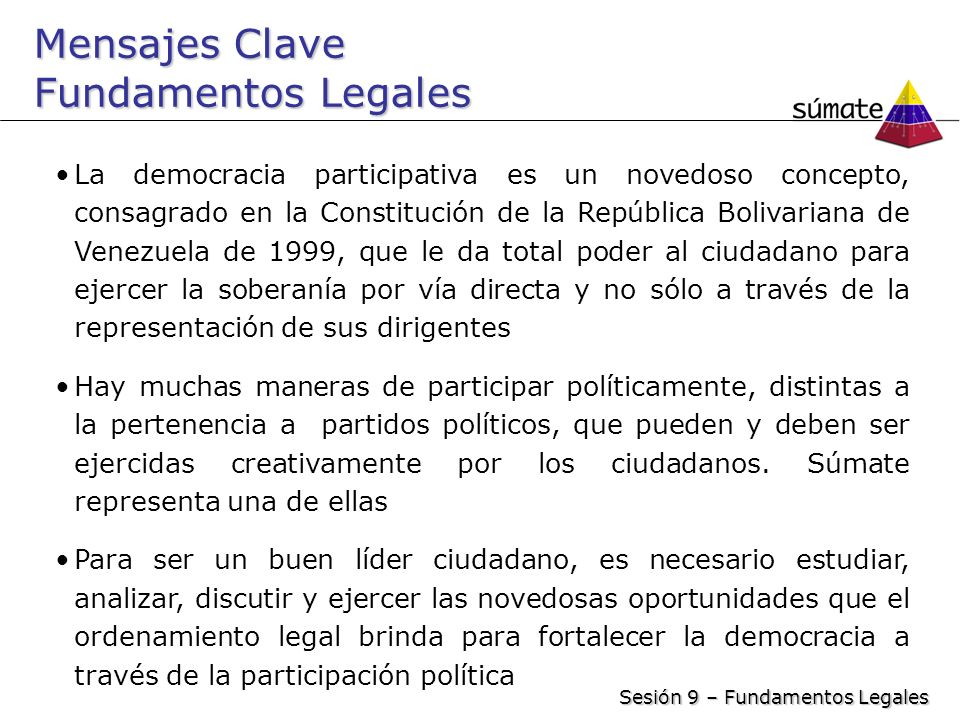 Mensajes Clave Fundamentos Legales