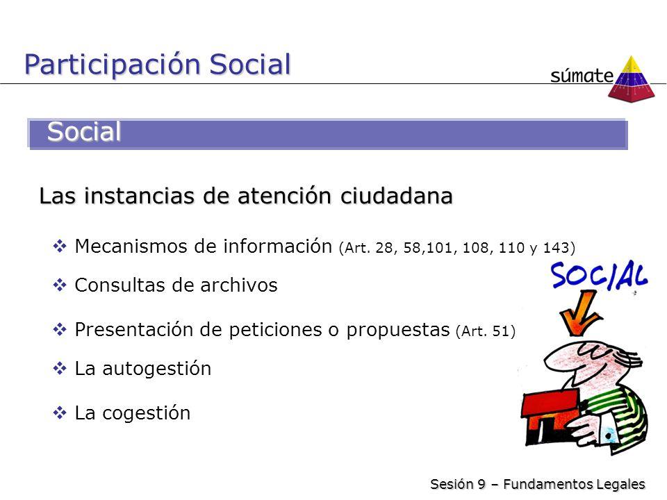 Participación Social Social Las instancias de atención ciudadana