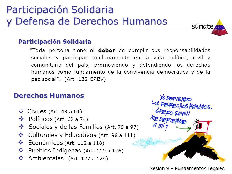 Participación Solidaria y Defensa de Derechos Humanos