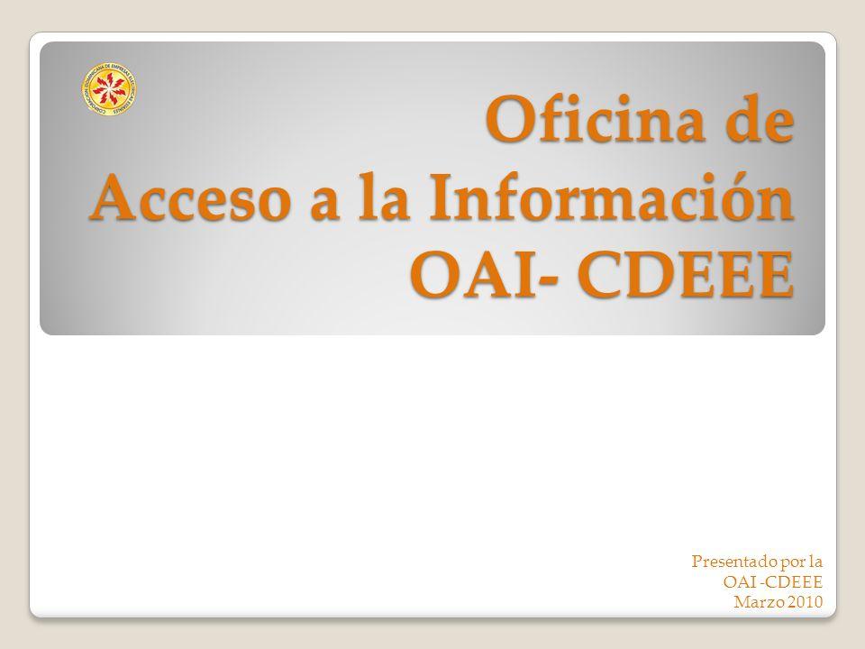 Oficina de Acceso a la Información OAI- CDEEE