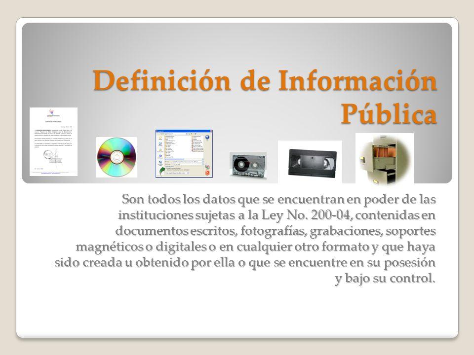 Definición de Información Pública