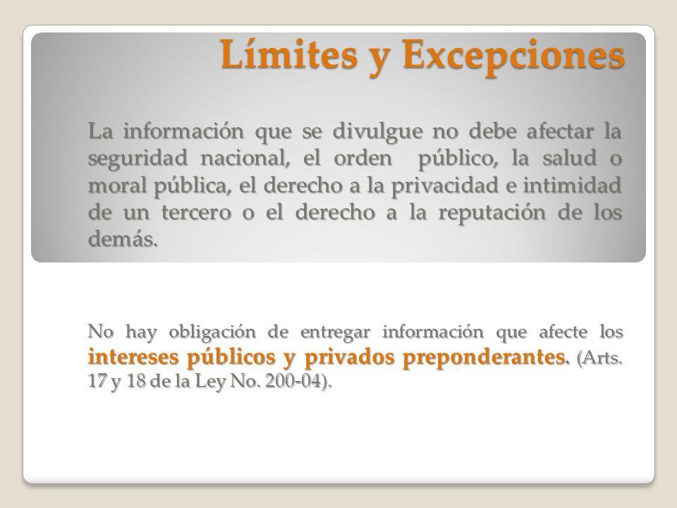 Límites y Excepciones