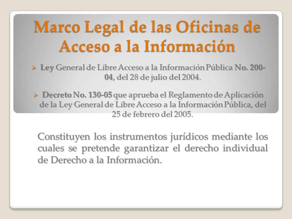 Marco Legal de las Oficinas de Acceso a la Información