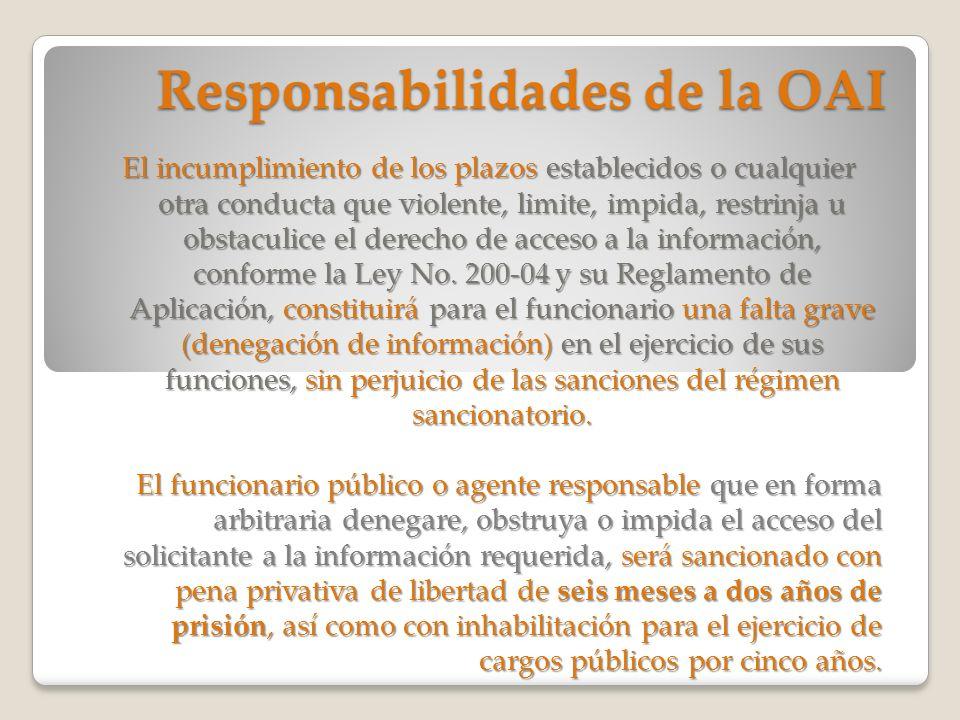 Responsabilidades de la OAI