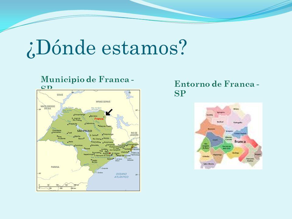 ¿Dónde estamos Municipio de Franca - SP Entorno de Franca - SP
