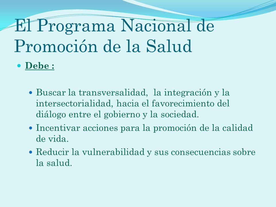 El Programa Nacional de Promoción de la Salud