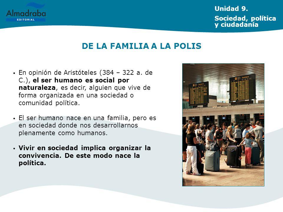 DE LA FAMILIA A LA POLIS Unidad 9. Sociedad, política y ciudadanía