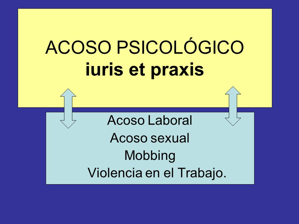 ACOSO PSICOLÓGICO iuris et praxis
