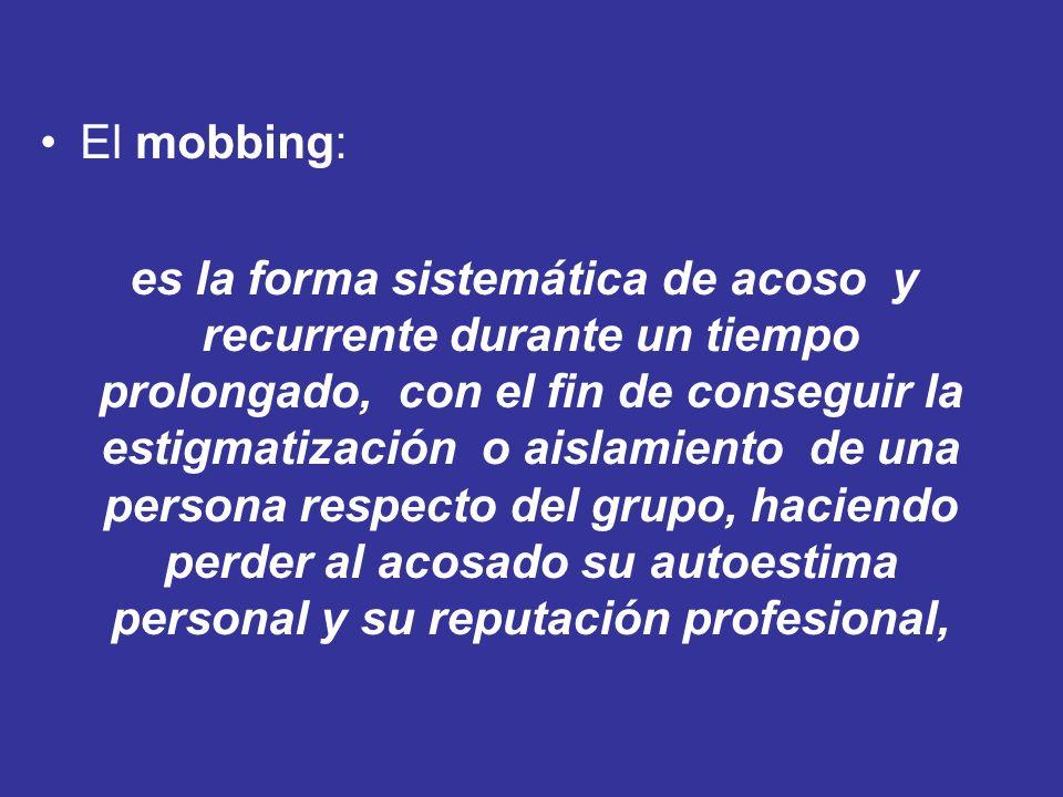El mobbing: