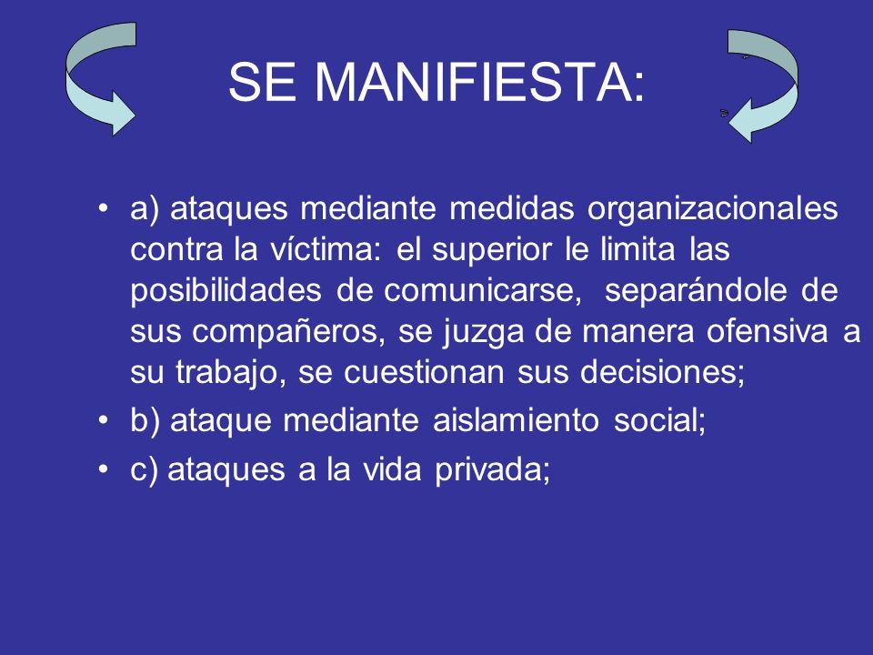 SE MANIFIESTA: