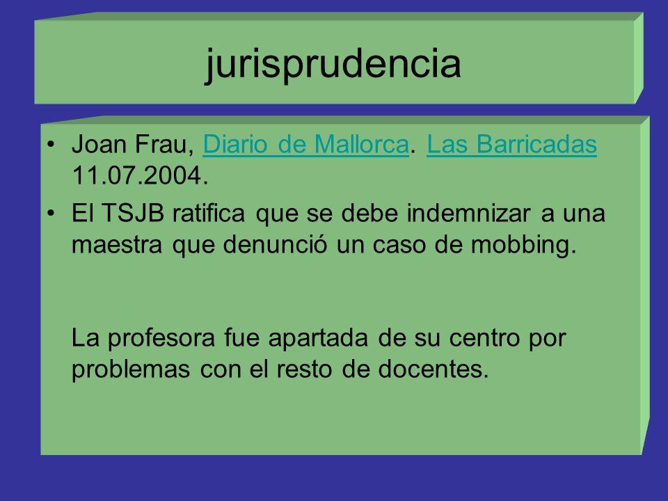 jurisprudencia Joan Frau, Diario de Mallorca. Las Barricadas 11.07.2004.