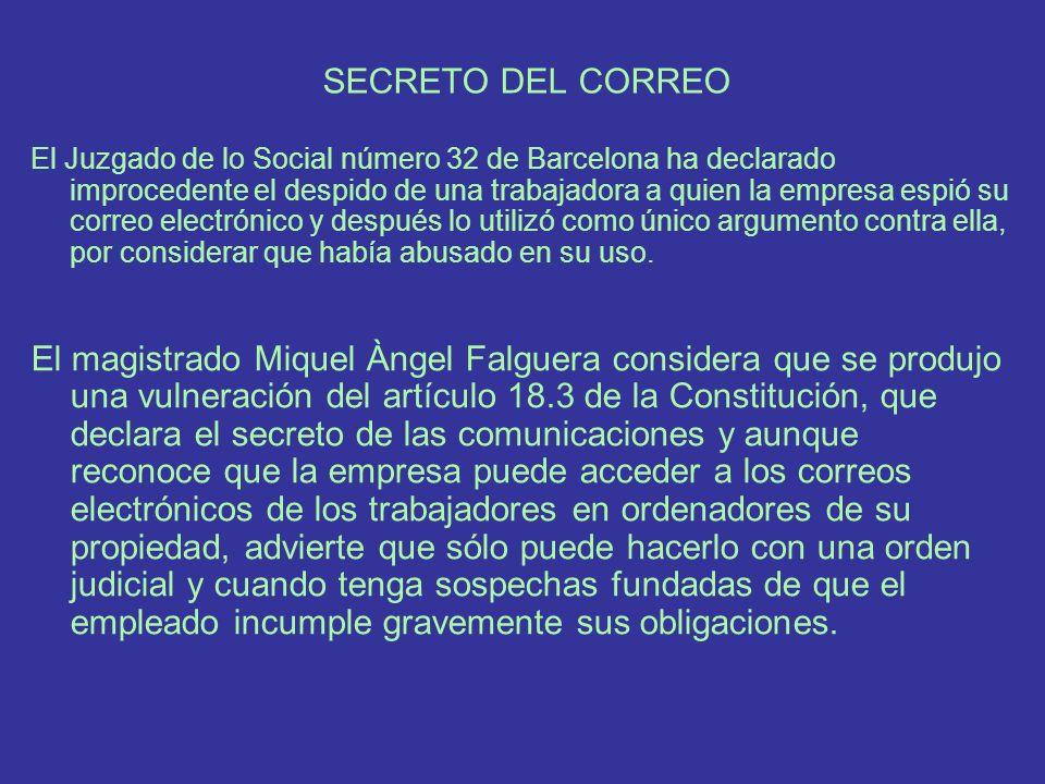 SECRETO DEL CORREO