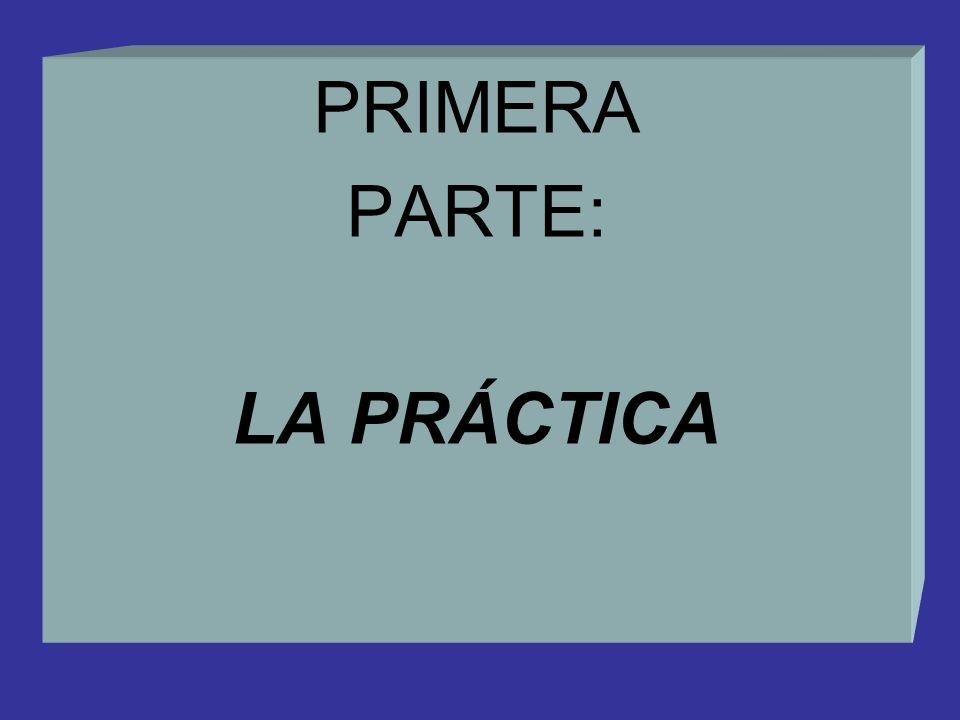 PRIMERA PARTE: LA PRÁCTICA