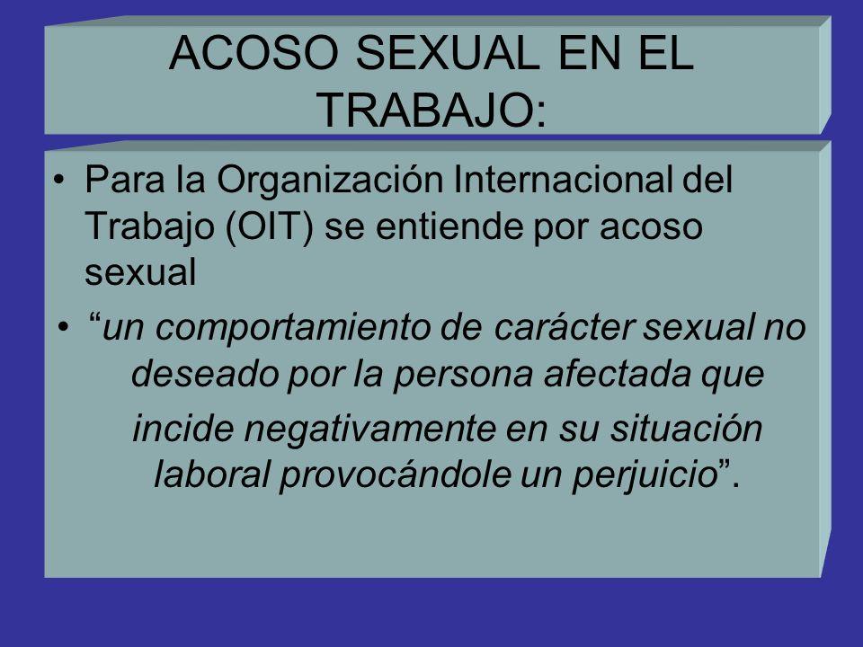 ACOSO SEXUAL EN EL TRABAJO: