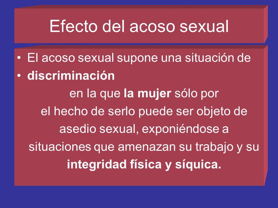 Efecto del acoso sexual