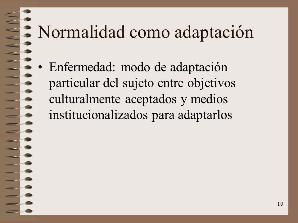 Normalidad como adaptación