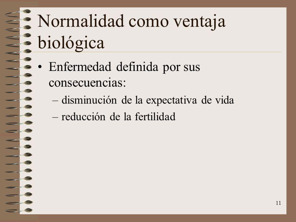 Normalidad como ventaja biológica