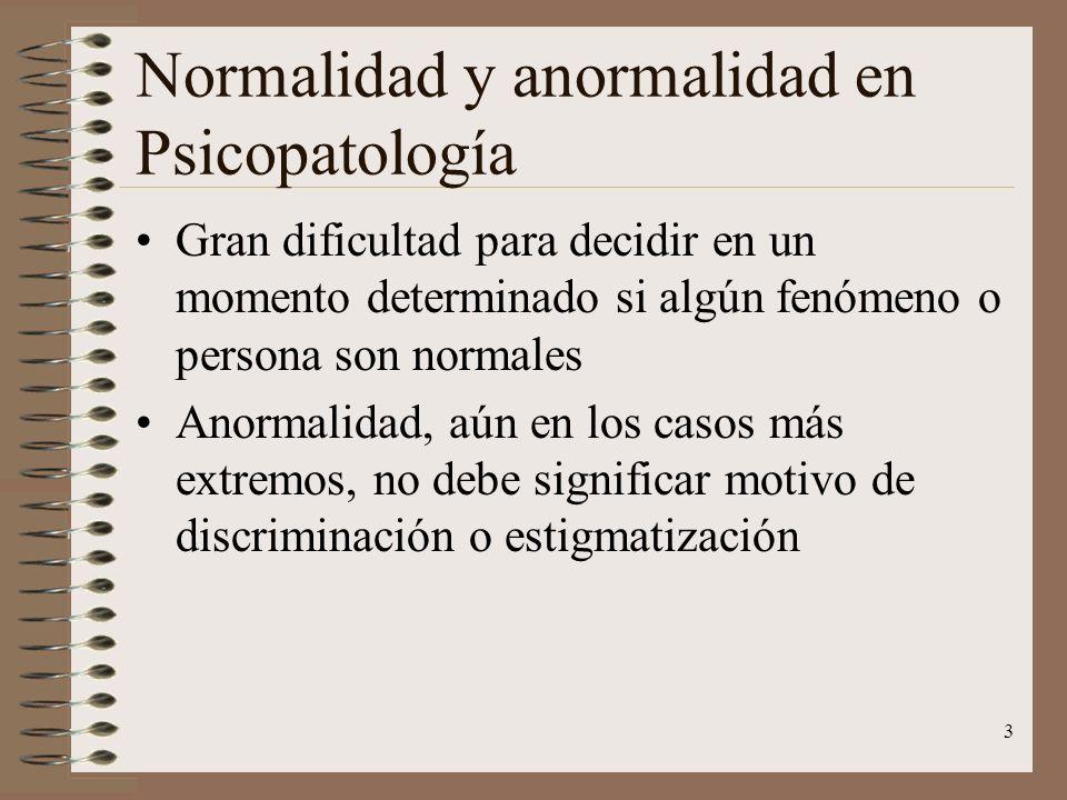 Normalidad y anormalidad en Psicopatología