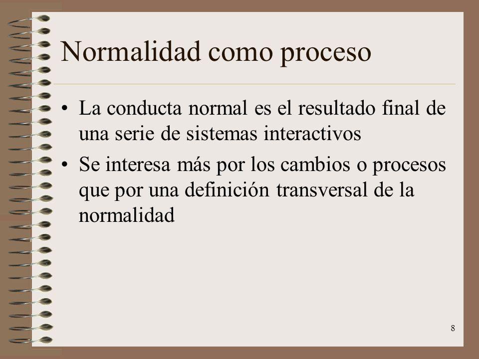 Normalidad como proceso