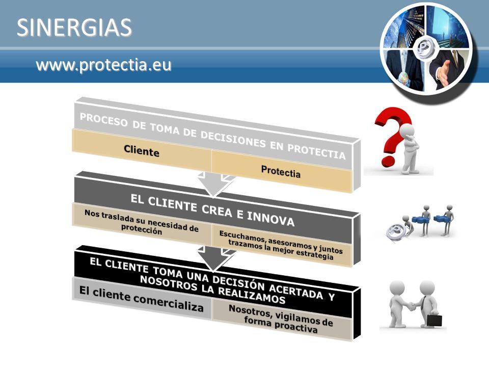 SINERGIAS www.protectia.eu EL CLIENTE CREA E INNOVA