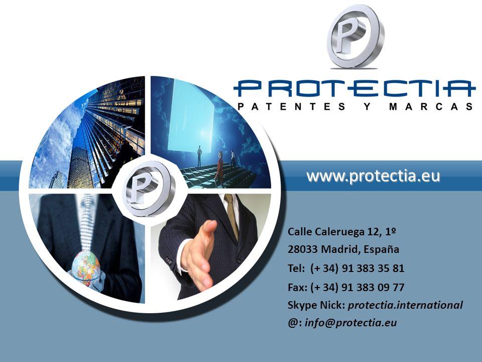 www.protectia.eu Calle Caleruega 12, 1º 28033 Madrid, España