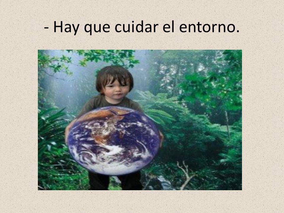 - Hay que cuidar el entorno.