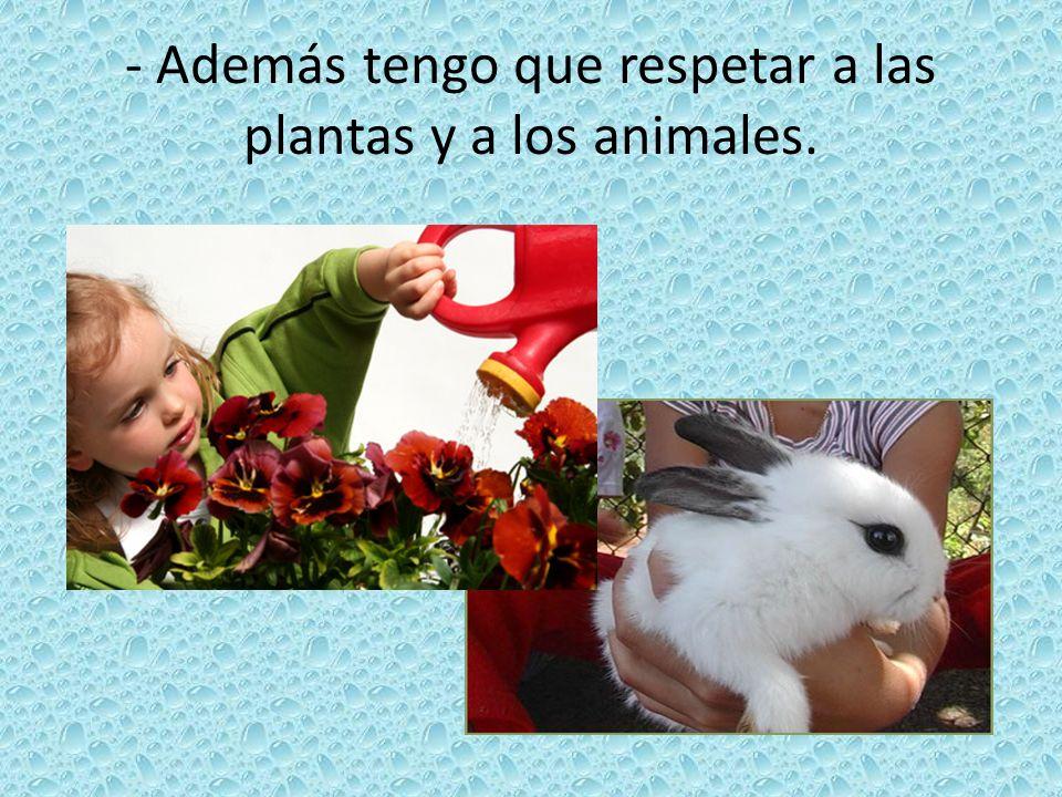 - Además tengo que respetar a las plantas y a los animales.