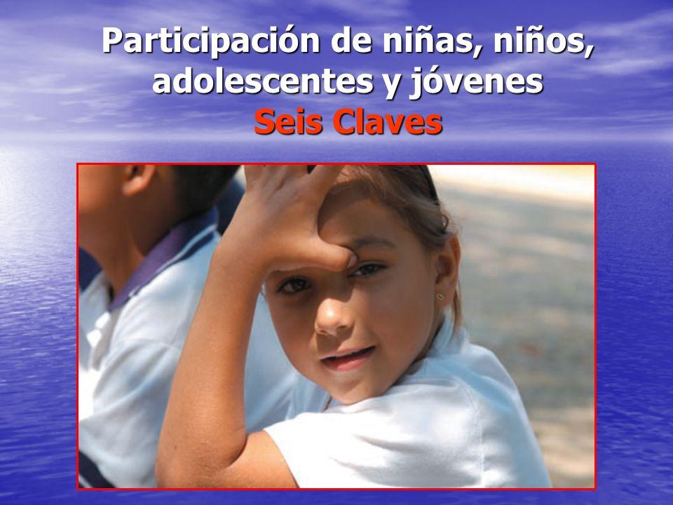 Participación de niñas, niños, adolescentes y jóvenes Seis Claves