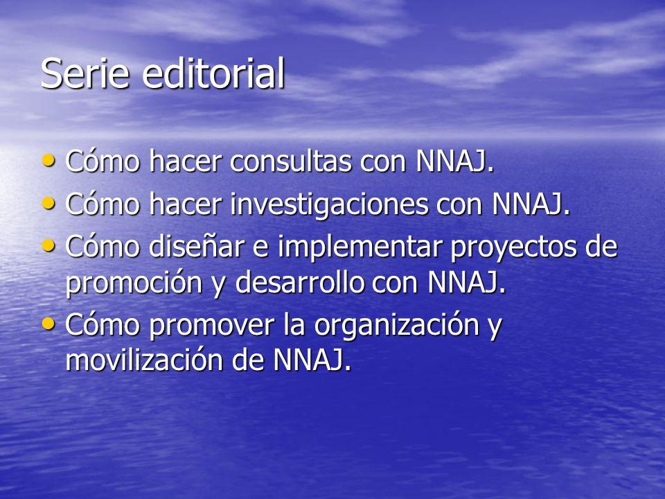 Serie editorial Cómo hacer consultas con NNAJ.