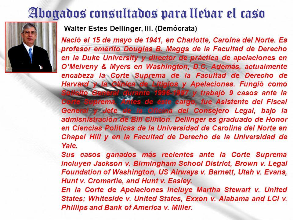 Abogados consultados para llevar el caso