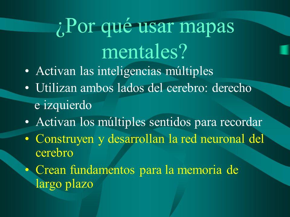 ¿Por qué usar mapas mentales