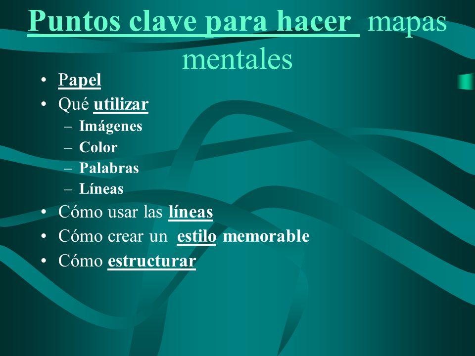 Puntos clave para hacer mapas mentales