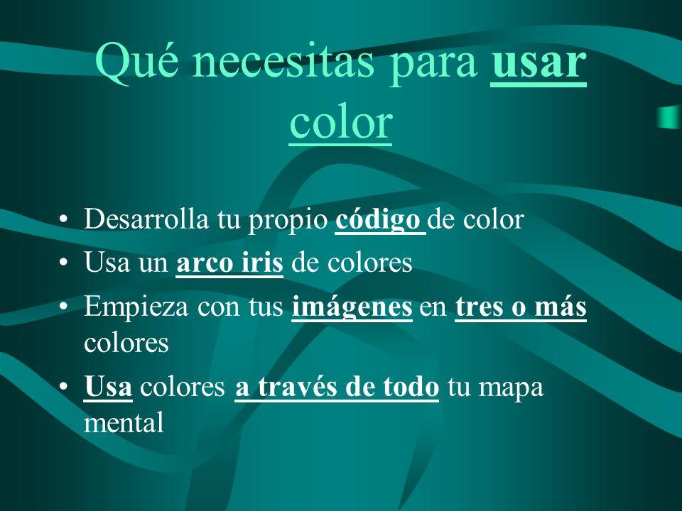 Qué necesitas para usar color