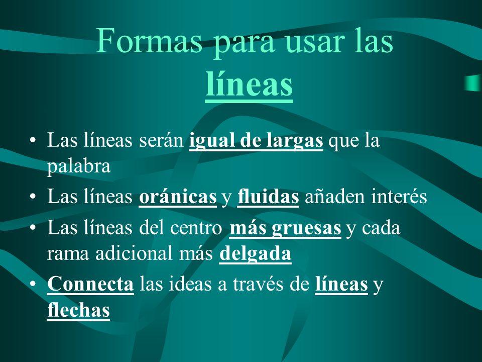Formas para usar las líneas