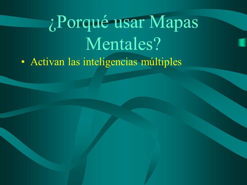 ¿Porqué usar Mapas Mentales