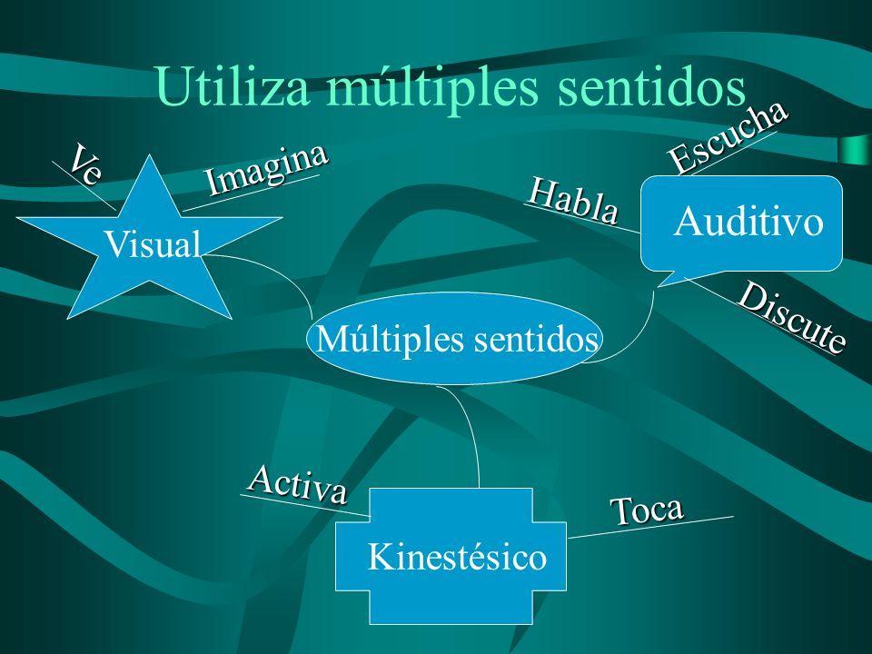 Utiliza múltiples sentidos