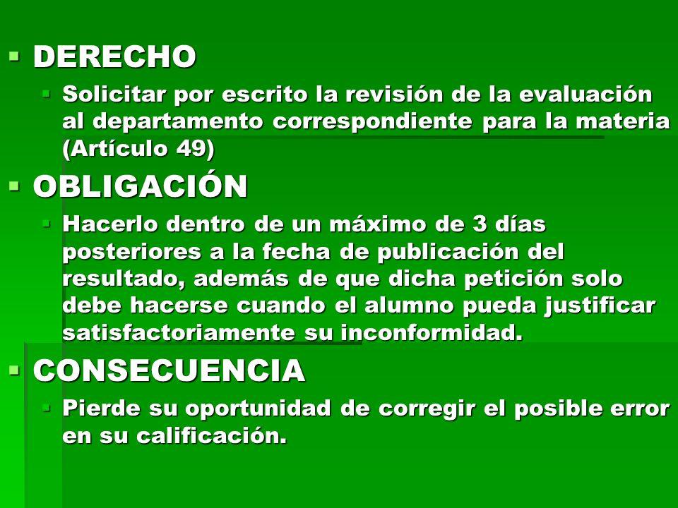 DERECHO OBLIGACIÓN CONSECUENCIA