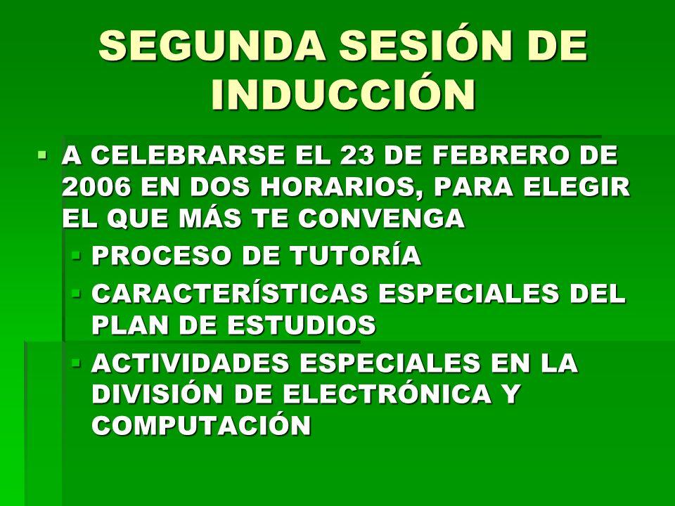 SEGUNDA SESIÓN DE INDUCCIÓN