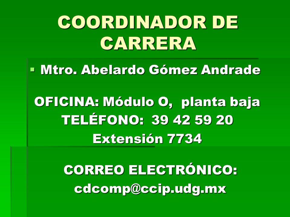 COORDINADOR DE CARRERA