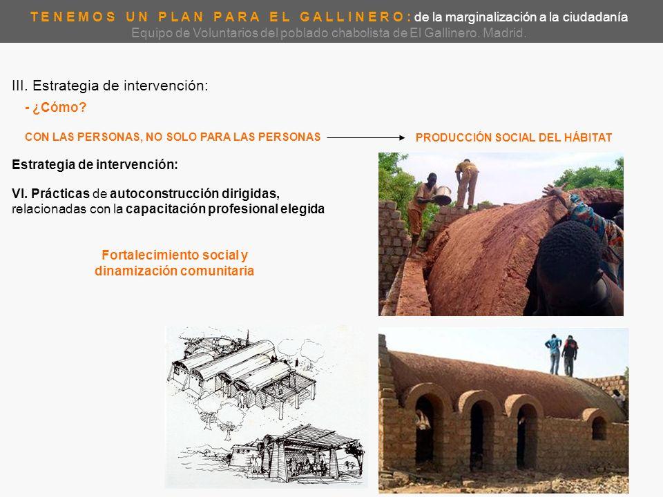 Fortalecimiento social y PRODUCCIÓN SOCIAL DEL HÁBITAT