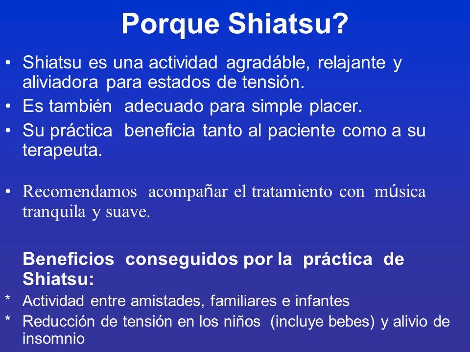 Instrucción de Shiatsu para terapeutas con experiencia
