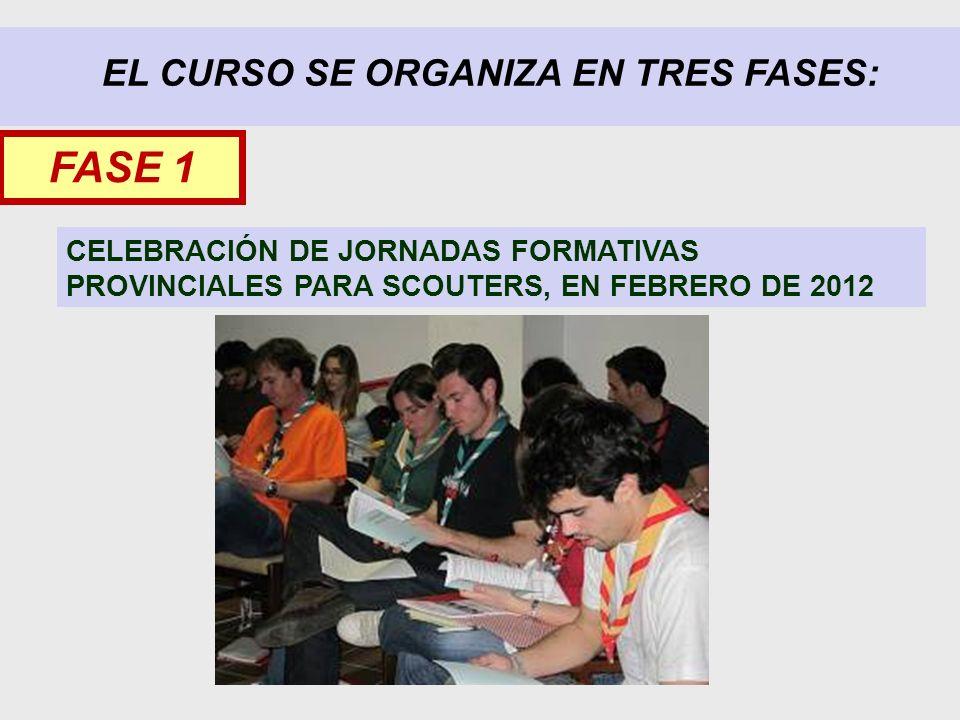 EL CURSO SE ORGANIZA EN TRES FASES: