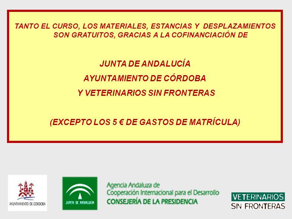 AYUNTAMIENTO DE CÓRDOBA Y VETERINARIOS SIN FRONTERAS
