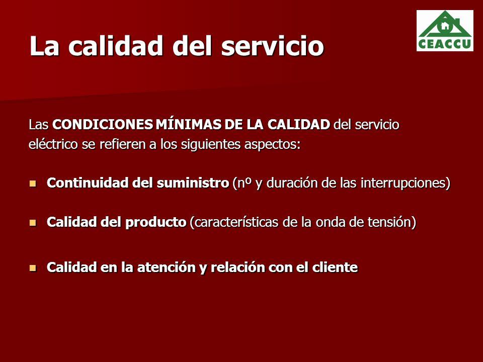 La calidad del servicio