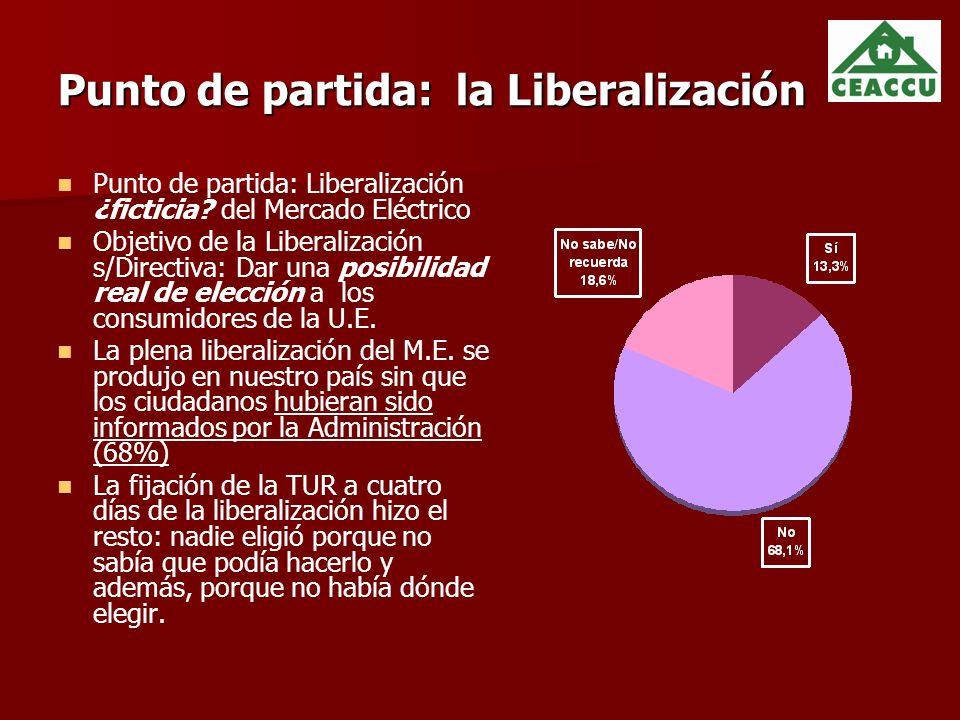 Punto de partida: la Liberalización