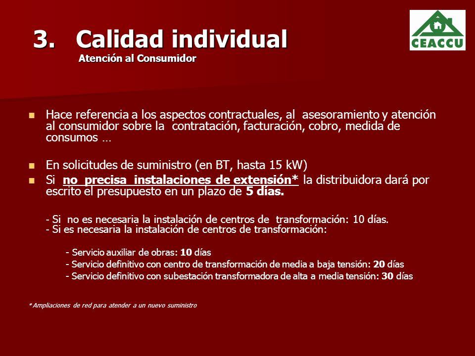 3. Calidad individual Atención al Consumidor