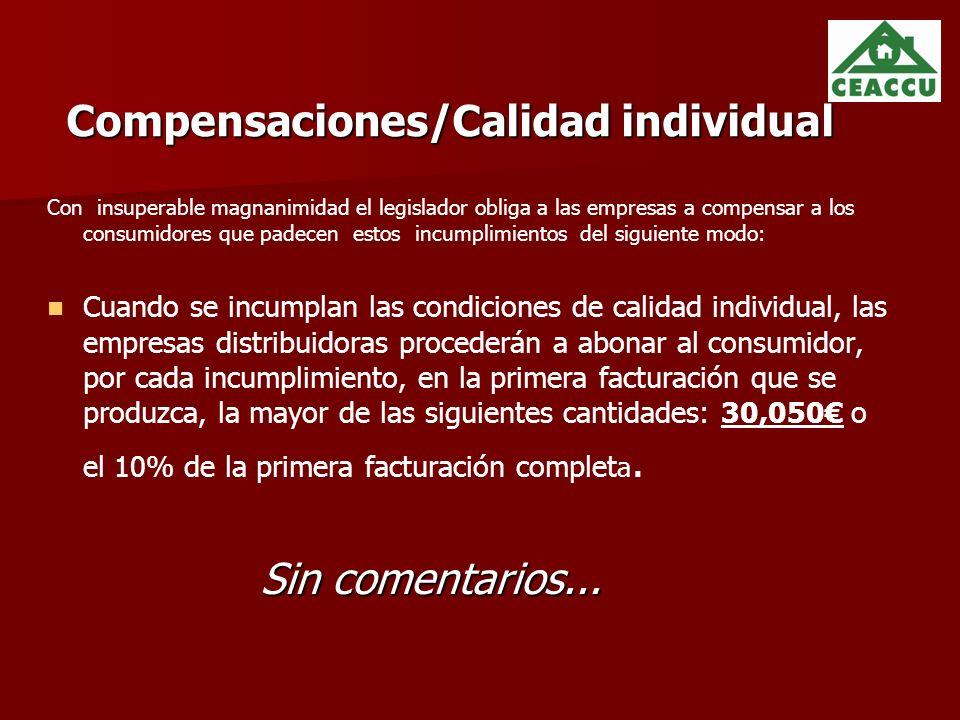 Compensaciones/Calidad individual
