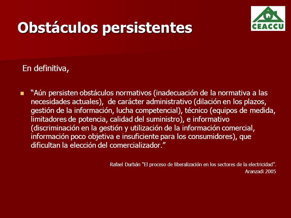 Obstáculos persistentes