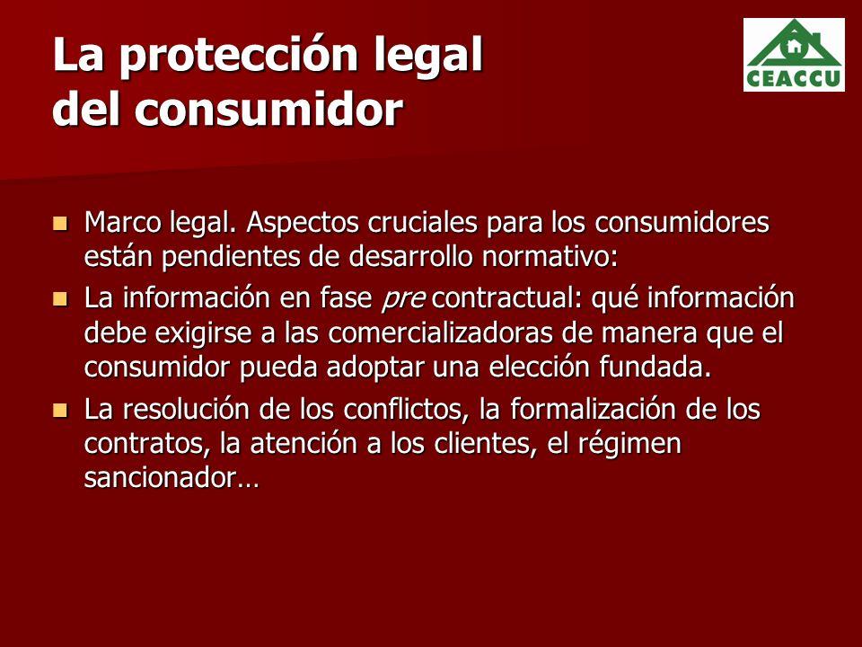 La protección legal del consumidor